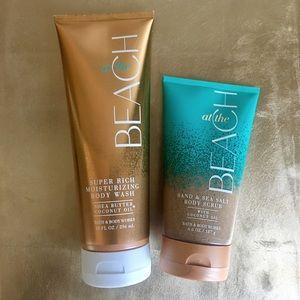 Bath & body works At the beach bodywash & scrub